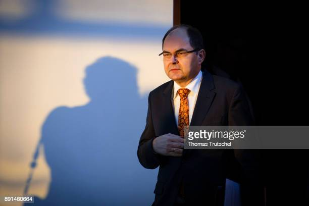 German Agriculture and Consumer Protection Minister Christian Schmidt arrives for the weekly cabinet meeting at the chancellery on December 13 2017...