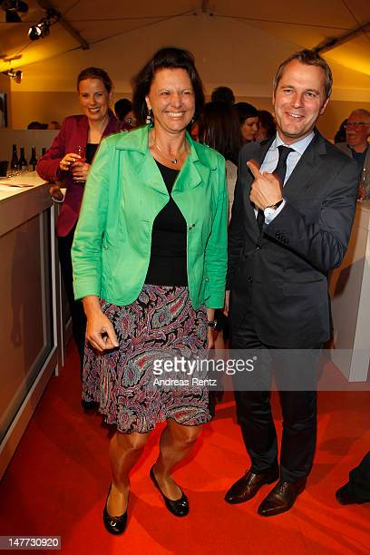 German Agriculture and Consumer Protection Minister Ilse Aigner and German Health Minister Daniel Bahr attend the ZDF summer reception on July 2 2012...