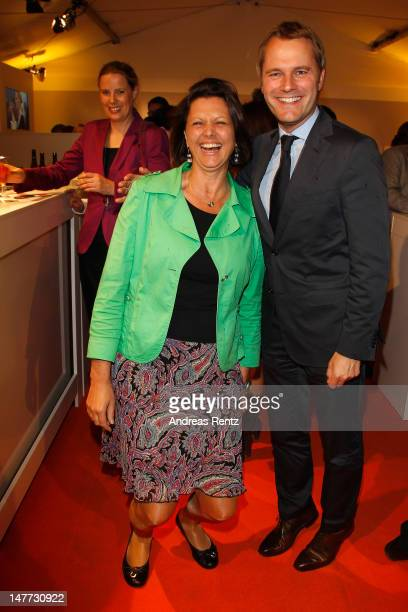 German Agriculture and Consumer Protection Minister Ilse Aigner and German Health Minister Daniel Bahr attend the ZDF summer reception on July 2,...