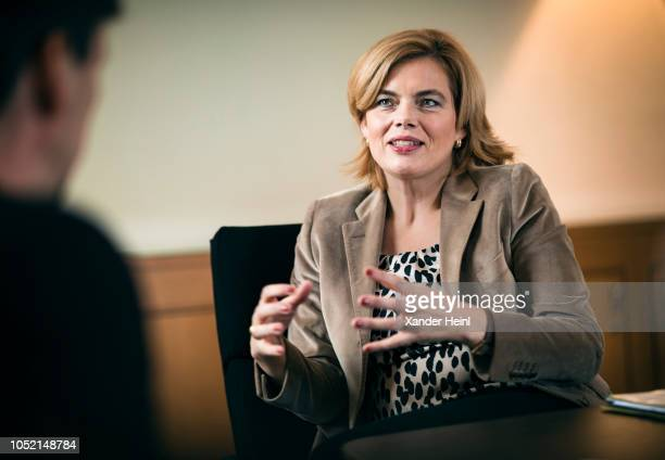 German Agriculture Minister Julia Kloeckner is pictured during an interview on October 02 2018 in Berlin Germany