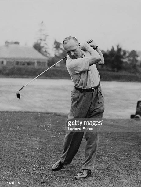 German Ambassador Herr Von Ribbentrop Driving From The First Tee At Scotland In United Kingdom On August 5Th 1937