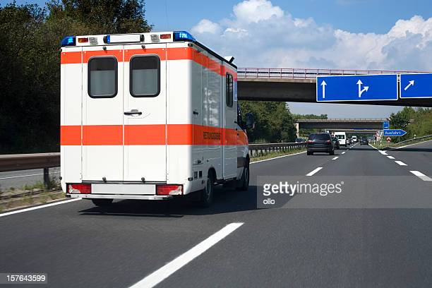 German ambulance on the highway