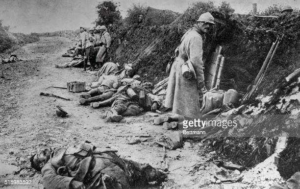 German and French casualties of World War I Undated photograph