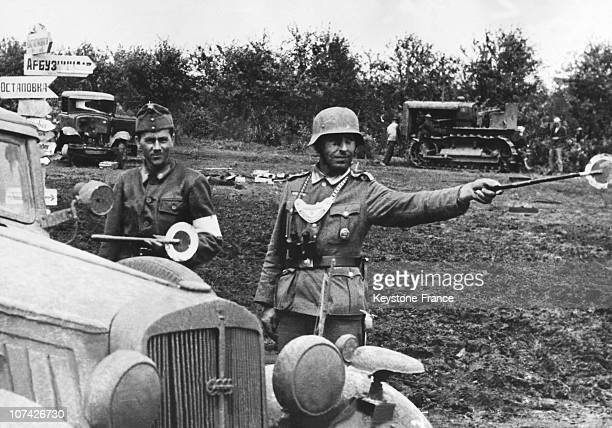 German And Hungarian Traffic Controlers In Hungary On June 21St 1941