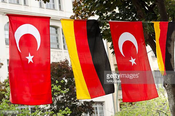German and Turkish flags - Berlin Kreuzberg