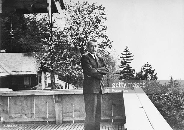 German architect Albert Speer at the Berghof home of Nazi leader Adolf Hitler in the Bavarian Alps near Berchtesgaden Germany circa 1935