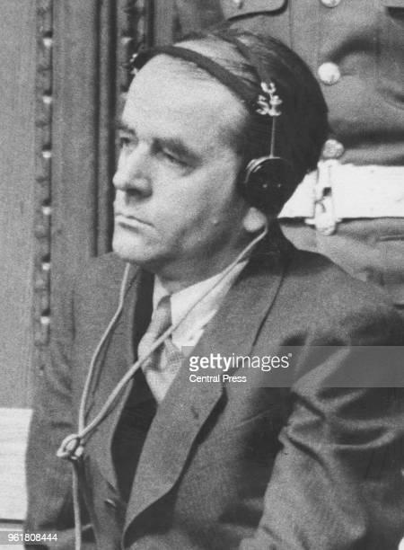 German architect Albert Speer during his trial at Nuremberg 1945 He served 20 years in Spandau Prison and was released in 1966