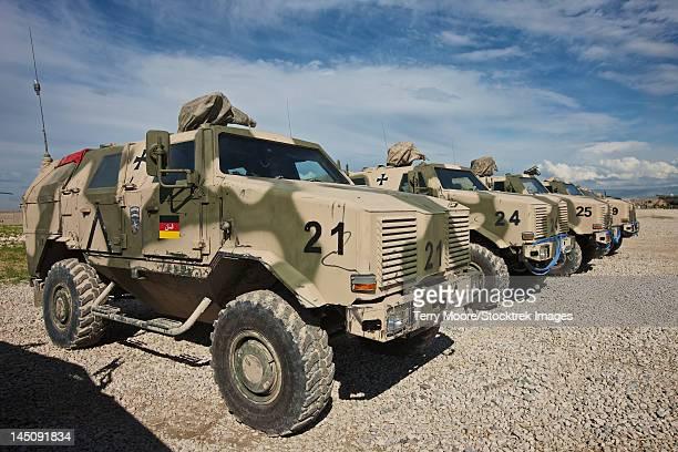 German Army ATF Dingo armored vehicles.
