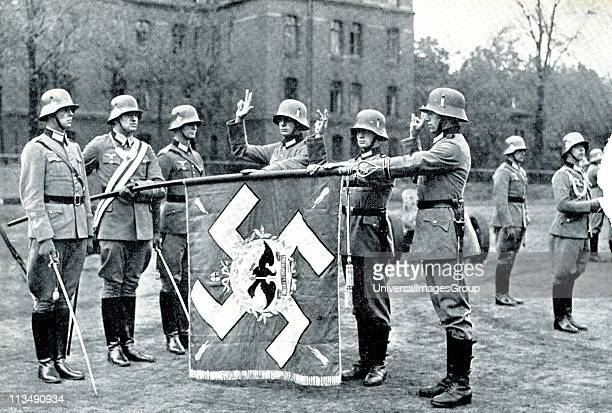 German army recruits swear allegiance to the Nazi Party and state 1935