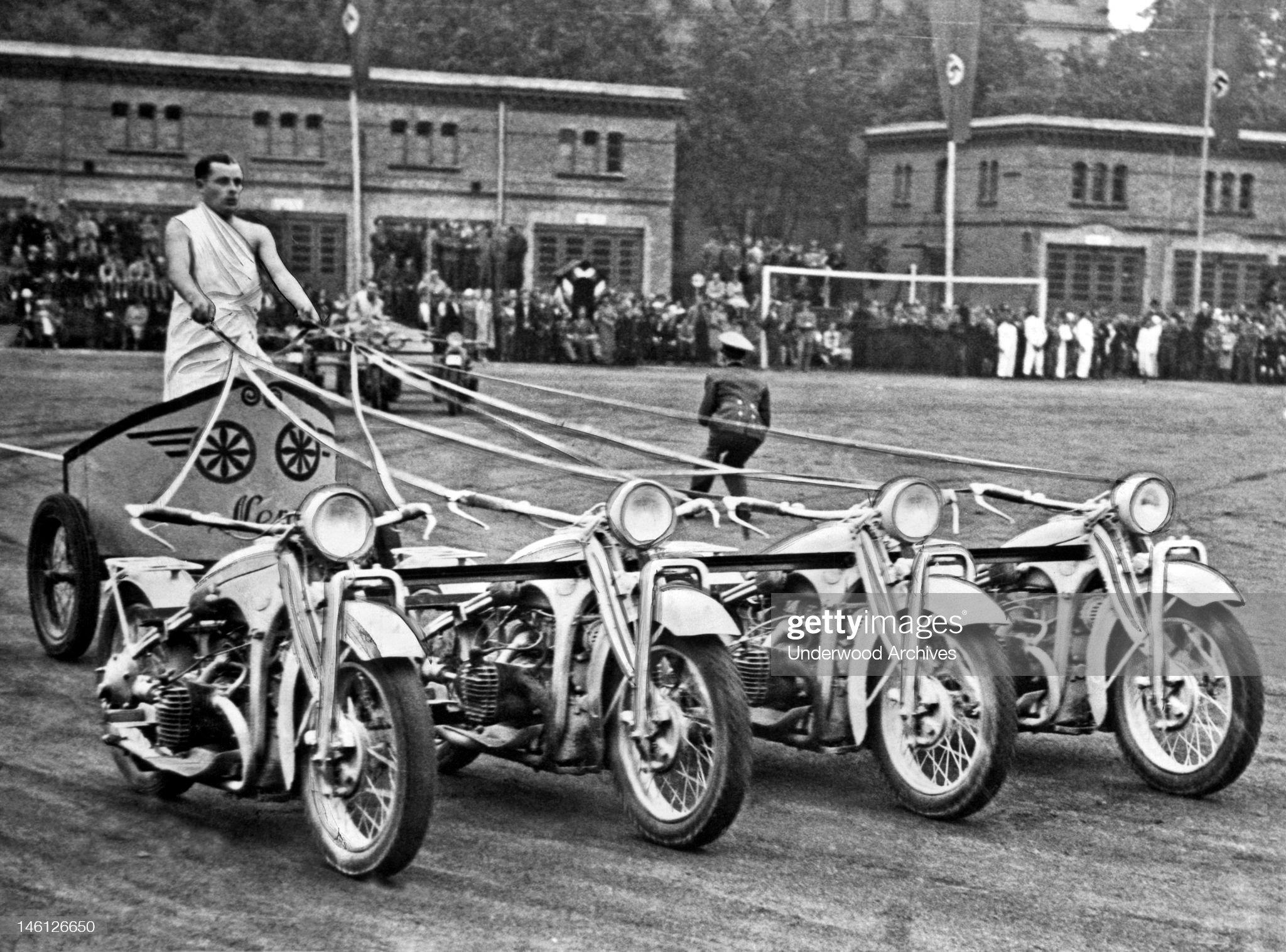 German Chariots At Potsdam : News Photo