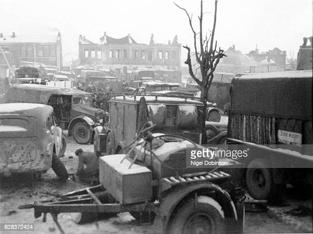 German Army vehicles Eastern Front World War II No specific details of date given