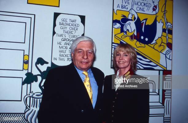German art collector Gunter Sachs with his wife Mirja at the opening of a Roy Lichtenstein retrospective exhibition at Haus der Kunst in Munich...