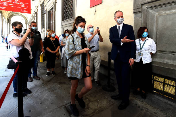 ITA: Uffizi Museum Reopening In Florence - Press Preview