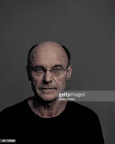 German artist Anselm Kiefer photographed for a poster portrait to publicize his oneman show of installations for the inaugural 'Monumenta' event at...