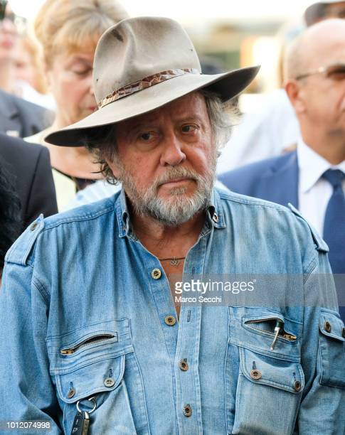 German artist Gunter Demnig looks on ahead of the laying of the first Stumbling Stone on August 6 2018 in Ljubljana Slovenia The Stumbling Stones or...