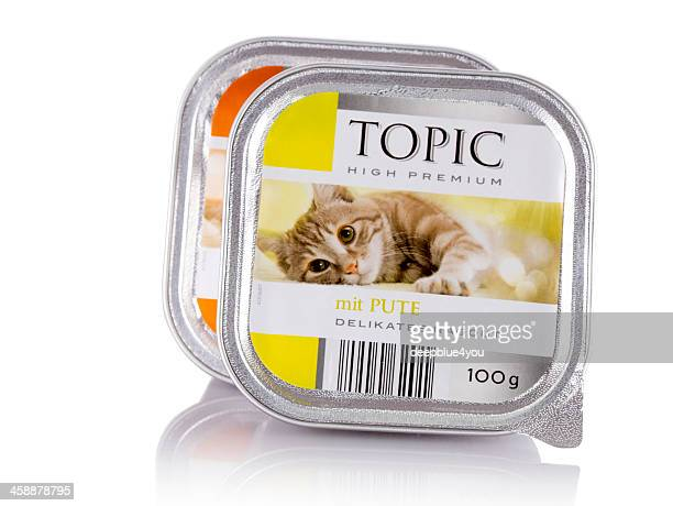 Deutsche Sortiment Katze Essen auf Weiß
