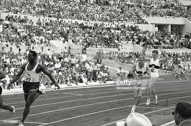 German athlete Armin Hary taking part in the 4 x 100metre relay race Rome 1960