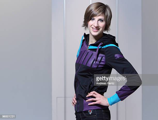 German athlete Meike Kroeger poses during a portrait session on February 7 2010 in Berlin Germany