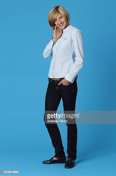 German athlete Meike Kroeger poses during a portrait session on May 25 2010 in Berlin Germany