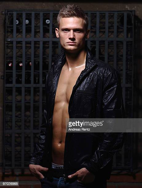 German athlete Pascal Behrenbruch poses during a portrait session on February 22 2010 in Stuttgart Germany