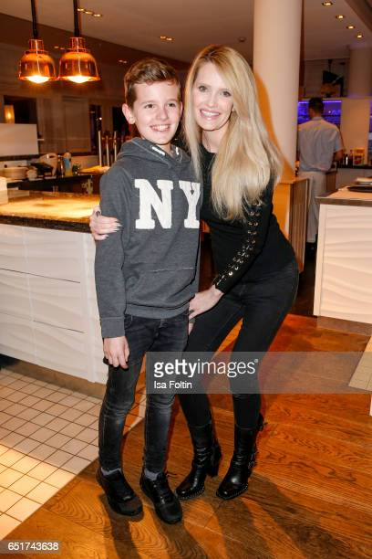 German atress Mirja du Mont and her son Fayn Neven du Mont attend the 'Baltic Lights' charity event on March 10 2017 in Heringsdorf Germany Every...