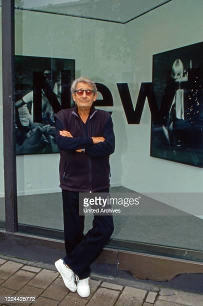 German Australian photographer Helmut Newton at Hanover, Germany, 1998.