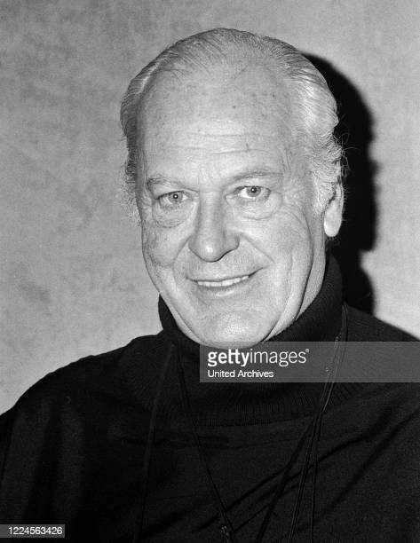 German Austrian stage and movie actor Curd Juergens at Hamburg, Germany, 1976.