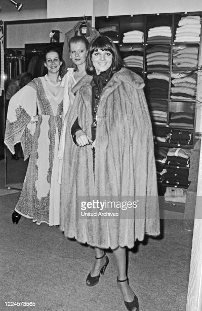 German author and TV presenter Alida Fischer later Gundlach at a clothing store in Hamburg Germany circa 1976