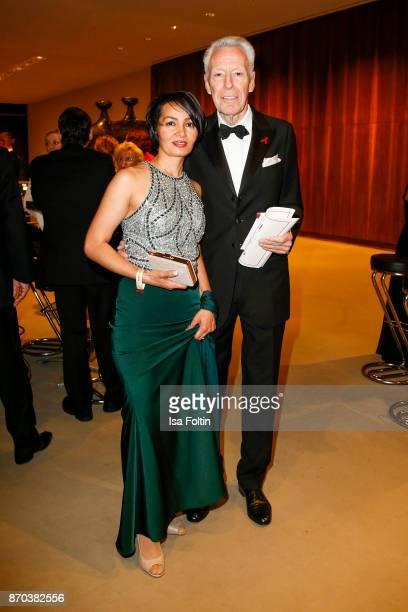 German author Egon F Freiheit and his girlfriend Amira during the 24th Opera Gala at Deutsche Oper Berlin on November 4 2017 in Berlin Germany