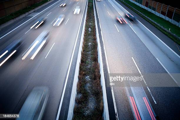 German autobahn - view from a bridge
