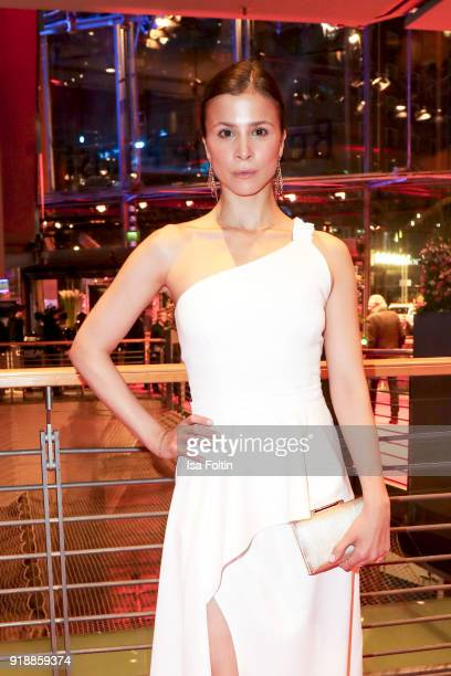 German axtress Aylin Tezel attends the opening party of the 68th Berlinale International Film Festival Berlin at Berlinale Palace on February 15 2018...