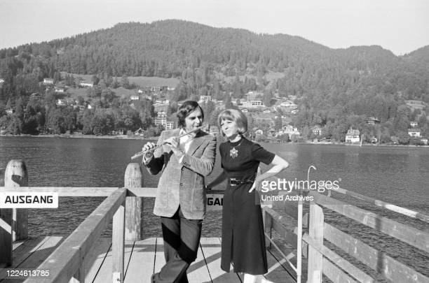 German band leader Jochen Brauer with his wife Gaby, Germany, 1960s.