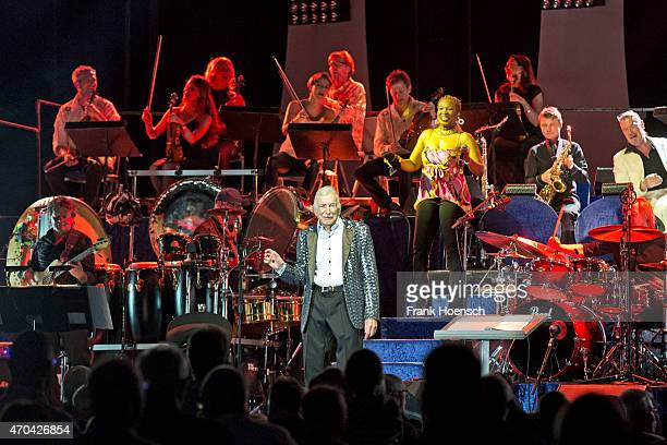 German bandleader and composer James Last performs live during a concert at the O2 World on April 18 2015 in Berlin Germany