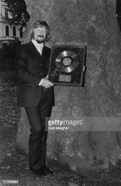 German bandleader James Last after receiving a gold disc for UK sales of one million 22nd October 1971