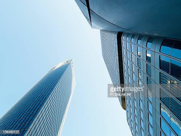 german bank highrise, frankfurt am main, hesse, germany, europe - frankfurt main tower stock pictures, royalty-free photos & images