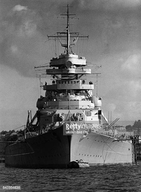 BATTLESHIP BISMARCK 1941 German battleship 'Bismarck' Photograph 1941