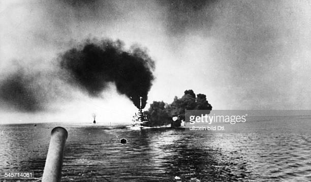 German battleship 'SMS SchleswigHolstein' in combat