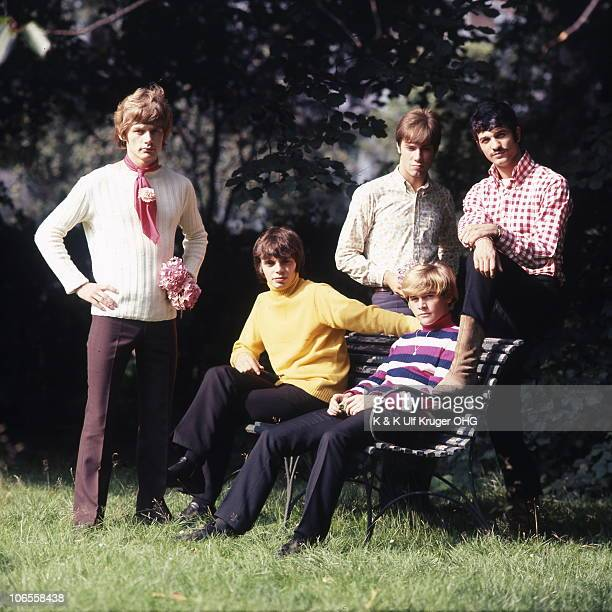 German beat group The Giants including Gibson Kemp pose for a group portrait circa 1966 in Hamburg Germany