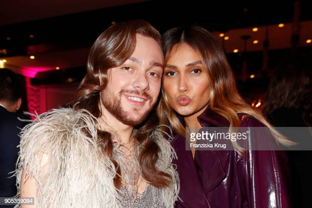 German bloggers Riccardo Simonetti and Wana Limar during the Bunte New Faces Night at Grace Hotel Zoo on January 15 2018 in Berlin Germany