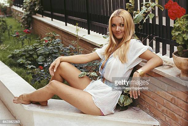 German born actress Barbara Bouchet who plays the role of Monica Brown in the film 'The Syndicate A Death in the Family' in Rome Italy on 6th March...