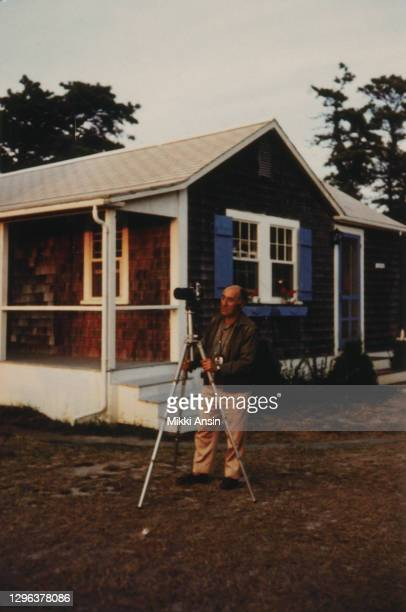 German born American photographer, Alfred Eisenstaedt, who worked for Life Magazine, photographs a scene in Oak Bluffs, on Martha's Vineyard, MA in...