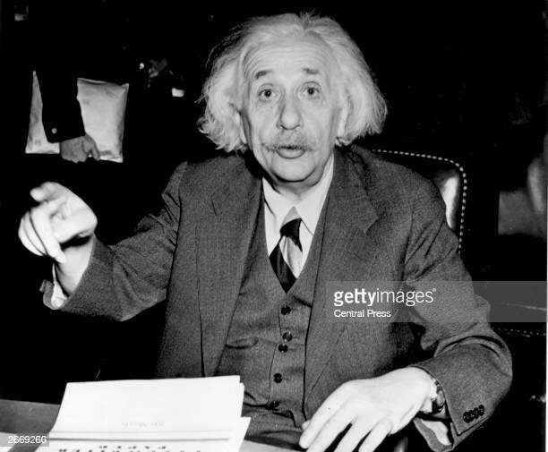 German born American physicist Albert Einstein , 1946.