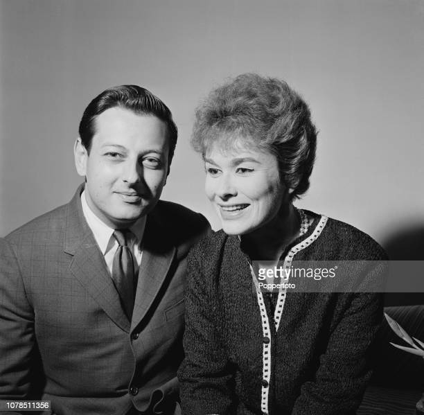 German born American pianist and composer Andre Previn posed with his wife lyricist and songwriter Dory Previn in London on 26th July 1960