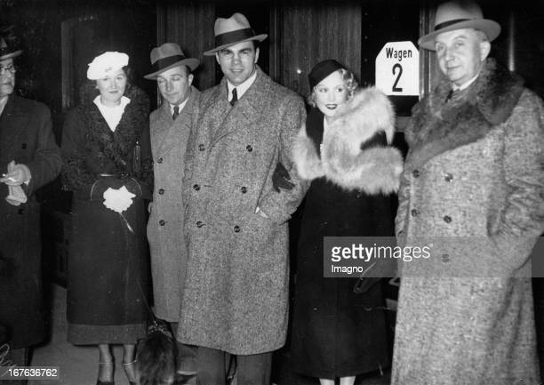 German boxer Max Schmeling and his wife Anny Ondra/ his coach Machon and the official representative of the Association of pugilist / Fritz...