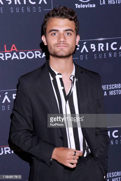 German Bracco poses for photos during a red carpet of premiere 'La Usurpadora' Tv Screening soap opera at Club de Banqueros on August 29 2019 in...