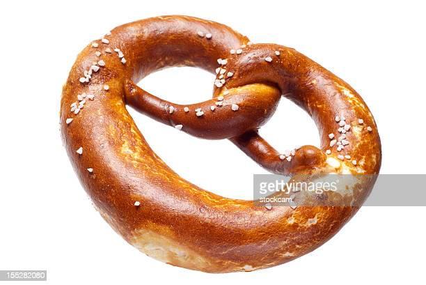 Deutsche Brot Breze auf weißem Hintergrund