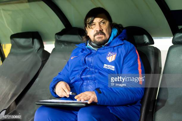 German Burgos of Atletico Madrid looks on prior the UEFA Champions League Group A match between Club Brugge and Club Atletico de Madrid at Jan...