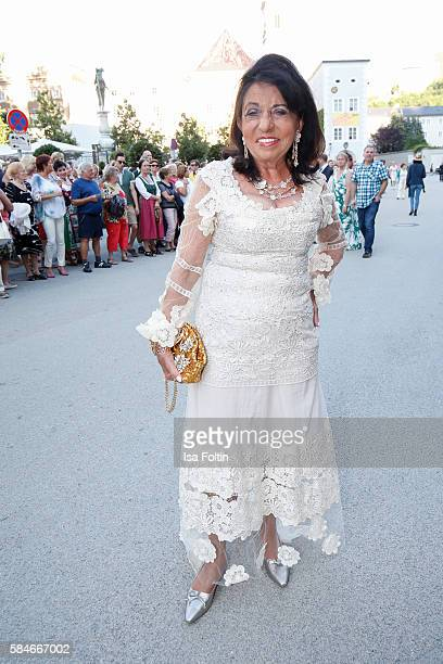 German business lady Regine Sixt Senior Executive Vice President of Sixt International car rental attends the premiere of the opera 'Cosi Fan Tutte'...