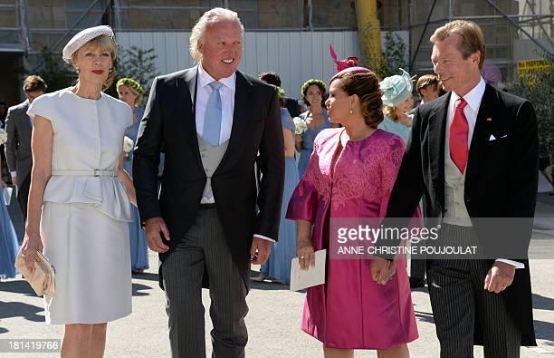 German businessman Hartmut Lademacher and his wife Gabriele Lademacher-Schneider , Grand Duke Henri of Luxembourg and Grand Duchess Maria Teresa of...