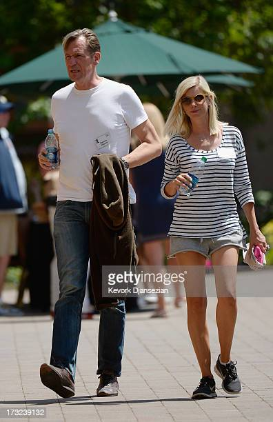German businessman Mathias Doepfner Chief Executive Officer of German media group Axel Springer AG and wife Ulrike attend the Allen Co annual...